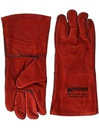 Wolfpack 15031150 - dicke Schweißerhandschuhe, Größe L, rot.
