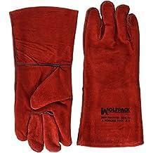 Wolfpack 15031150 - Guante soldar, denso, tamaño largo, color rojo
