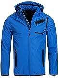 INDICODE Herren Jacke Softshelljacke Windbreaker Wetterschutzjacke Funktionsjacke mit Kapuze Winterjacke Regenjacke 50-062 Cobalt M