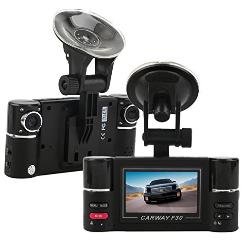 2.7inch LCD 1080P Dual Lens Auto Kamera Car Camera Dashcam 180° Weitwinkel Auto DVR Dash Cam Dashboard Camcorder Black Box mit G-sensor Nachtsicht