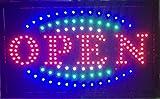 LED XXL Schild Open Glüchwein Sonnenstudio Massage Leuchtreklame Display Werbung NEU!!! (OPEN XXL)