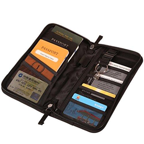 NiSeng Reisedokumente Reisebrieftasche Organisator taschen für Flugkarten Passport Kreditkarten AsPicture