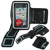 ebestStar - Compatible Brassard Sport iPhone 4, 4S Apple Coque Housse Néoprène Armband Case, Noir [Appareil: 115.2 x 58.6 x 9.3mm, 3.5'']