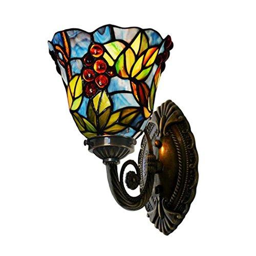 Tiffany Style Wandleuchte, Single Head Kupfer Lampbody Wandleuchte, Grape Art dekorative Wandleuchten yd&h -