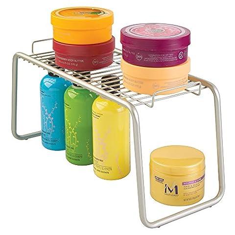 mDesign Étagère de rangement auto-portante pour serviettes, savon, bougies, mouchoirs, lotions, accessoires -