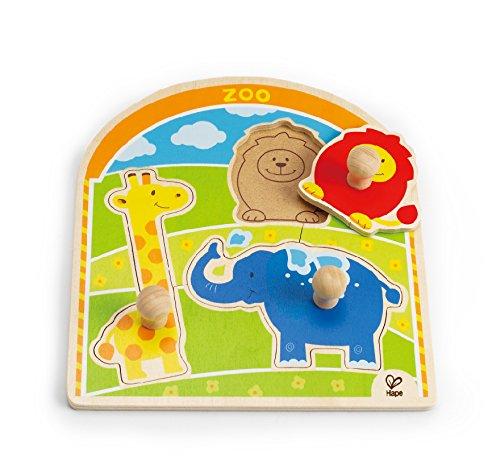 Hape E1302 - Puzzle con Pomello Allo Zoo