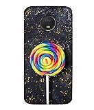 PrintVisa Designer Back Case Cover for Motorola Moto E4 (Pattern Abstract Illustration Tasty Colorful Lolly Sugar Attractive)