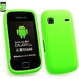 Emartbuy® Samsung S5660 Galaxy Gio Silikon Case Cover Tasche Hülle Schutzhülle Grün