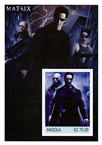 Die Matrix-Briefmarken für Sammler - Keanu Reeves und Lawrence Fishburne - ein super Stempel - Ideal für Briefmarkensammeln - Post (Lawrence Post)