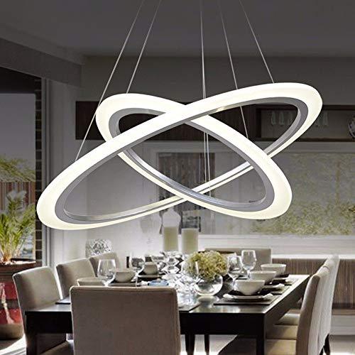 Sala Moderna Lámpara Araña Colgante Acrílico Dormitorio Bar Luz Estudio Para Simple Estar Comedor De Led Anillo Celular K3clF1TJ