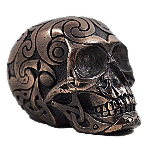 Celtic Skull in Bronze - H6cm (small) by Design Clinic