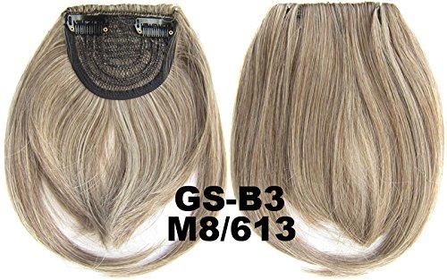 # 8 _ _ _ _ _ _ _ _ _ 613 m 100% fibre synthétique haute température Clip dans/sur cheveux avant frange frange cheveux