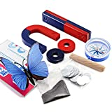 Labs Magnet Set Bildung Wissenschaft Experiment Werkzeug Kit für Kinder Studenten inkl. Bar Ring Hufeisen Magnete Kompass 9er Set