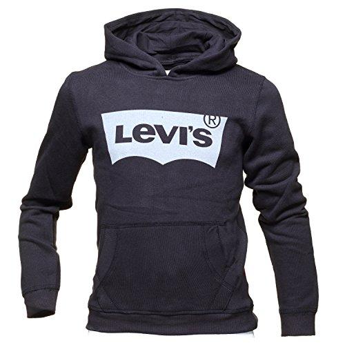 Levi's kids batwin sweatshirt hoodie, felpa bambino, nero (black 02), 8 anni (taglia produttore: 8a)