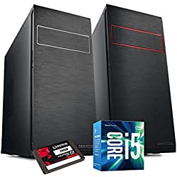 PC DESKTOP INTEL i5 7400 3,50 GHZ • GRAFICA INTEL® HD 630 • 8GB DDR4 • WINDOWS 10 PRO • 1TB HDD • SSD 240 GB • PC ASSEMBLATO PC FISSO DA UFFICIO CASA COMPLETO HD PRONTO USB 3.0 • CASE BLACK ELEGANTE