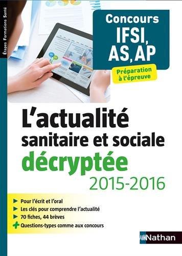 L'actualité sanitaire et sociale décryptée 2015/2016
