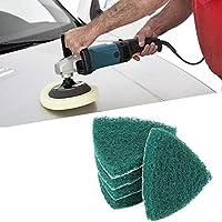 Almohadilla para fregar triangular Almohadilla para fregar a mano abrasiva Almohadillas para fregar a mano para eliminar la superficie de diversos materiales, la suciedad utilizada en la