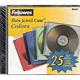 Fellowes Thin Jewel Colors CD / DVD Cases 25-Pack