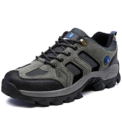 XIGUAFR Chaussure D'Escalade de Randonné Montantes Pour Homme Chaussures de Sport Respirant Waterproof