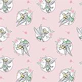 Unbekannt Tinkerbell Stoffe–Tinkerbell–0,5Meterware–von Camelot–100% Baumwolle rose