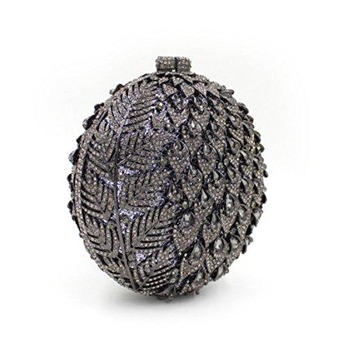 High-end Bag Banchetto Portatile Borsa Da Sera Di Lusso Del Diamante Delle Donne Black