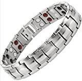Dr. Kao Classic Full energyTitanium Magnetic Bracelet with Fold-Over Clasp, Powerful 3,000 gauss Magnets