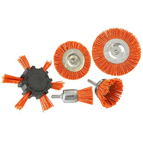 5pc Nylon Abrasive Filament Brush Drill Spindle 6mm Shank De Burring Rust TE876 Test
