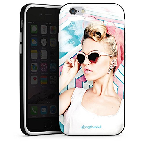 Apple iPhone 5s Housse Étui Protection Coque Lena Hoschek Spring Summer Tendance 2016 Fashionweek Housse en silicone noir / blanc