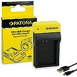 PATONA Slim Caricatore per batterie Canon LP-E12, EOS 100D   M10   M2   Rebel SL1   8.4V/500mA   con cavo Micro-USB