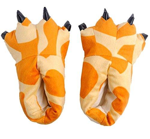 Winter Tierhausschuhe Plüsch Hausschuhe Pantoffeln Kostüme Warme Puschen, Giraffe M (Halloween Crayon Kostüm)