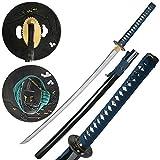 Jaschigo Samurai-Schwert handgeschmiedet - Carbonstahl - Schwarz Lackiert - Gesamt ca. 104 cm - Sehr Edel
