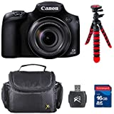 Canon PowerShot SX60 HS Digital Camera - Wi-Fi Enabled Bundle With Commander 16GB High Speed Memory Card + Memory Card Reader + Deluxe Case + Flexible Tripod + Accessory Kit - International Version