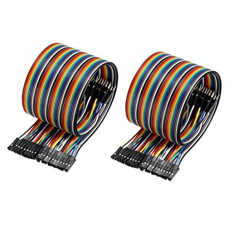 Sourcingmap Stecker-Kabel (männlich auf männlich, 40P, 2,54 mm)