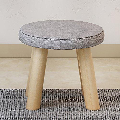 Hocker Creative Fashion Solid Wood Leinen Kunst Rundhocker, moderne minimalistischen Stil Wohnzimmer Studie Schlafzimmer Hocker, Vier-Fuß-Hocker, Sofa Soft Hocker, Esstisch und Stuhl, Tische und Stühl -