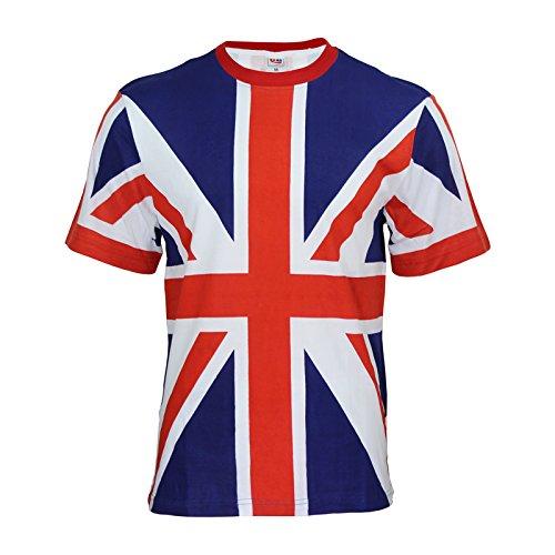 Tour Collection Union Jack (unisex) Flag T-Shirt XS-S M-L-XL-XXL London 2017 -2018team GB Herren/Kinder - XXL
