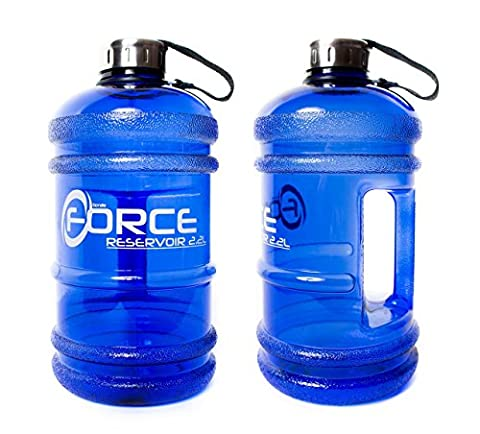 Extra strong 2.2 litre tritan water bottle . Highest quality thick plastic thats odourless clean and non toxic BPA free . Heavy duty stainless steel lid with grip tight seal .Ideal for: Gym, Dieting, Bodybuilding, Outdoor Sports, Hiking & Office . Comes in deep ocean blue