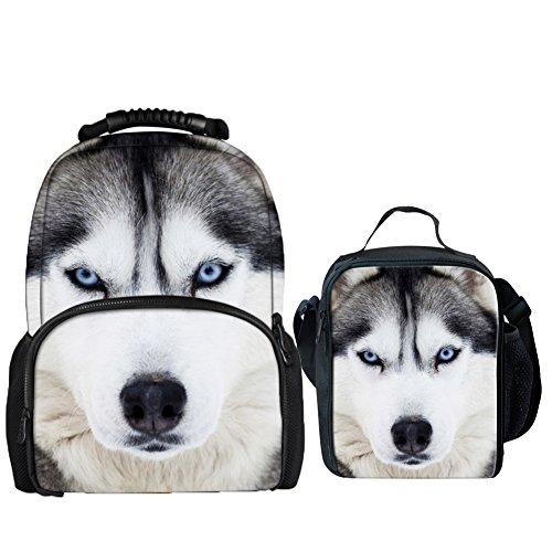 Coloranimal Kinderrucksack Husky Backpack+lunch Bag