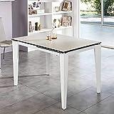 Pharao24 Ausziehbarer Tisch in Weiß Glas modern
