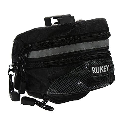 RUKEY Wasserdicht Wedge Pack Radfahren Sitzkissen Bag Satteltasche Tasche Mountain Road Fahrzeug Schwanz Falt Fahrrad Schwanz Tasche, Schwarz