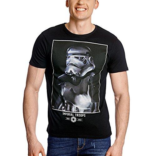 Star Wars Herren T-Shirt Imperial Trooper schwarz Baumwolle Schwarz