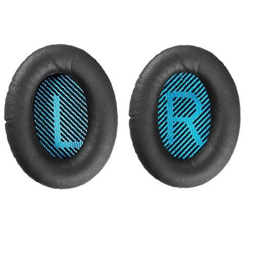 Conambo Ersatzschaum Ohrpolster Ohrpolster-Kissen für Bose Quiet Komfort 15 QC15 QC25 QC35 Ae2 Ae2i Ae2w um Ohr Kopfhörer Ohrpolster und Innere Schaumstoffmatten (1 Paar schwarz)