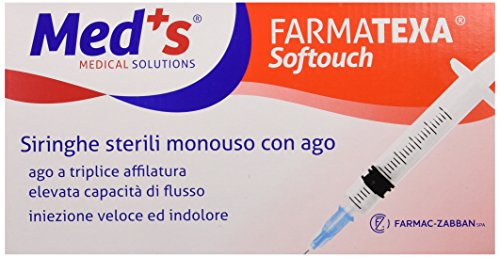 Farmac Zabban Softouch Siringa da 10 ml con Ago G 21, 3 Pezzi, Pack di 100