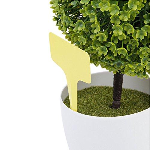 Etiquetas para horticultura - SODIAL(R) 100 piezas 10x6cm etiquetas de signos de tipo T de plantas de arbol(amarillo)