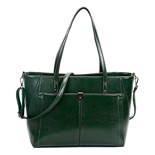 MIMI KING Einfache Stilvolle Schulter Messenger Handtasche Für Frauen PU Leder Große Kapazität Reine Farbe Taschen Mode Tote,Green
