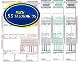 Pack 50 Talonarios CMR Autocopiativos Anónimos   Acordes a la legislación de Transporte vigente