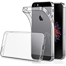 "Funda para iPhone 5S 4.0"" ( Pack of 2),Simpeak Carcasa para iPhone SE Silicona TPU Transparente ,Cover para iPhone 5, Funda para iPhone 5C, Carcasa para iPhone SE , Cover para iPhone SE 5S 5 5C"