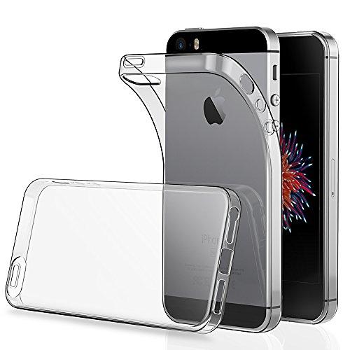 Preisvergleich Produktbild iPhone SE Hülle Case,[2 Pack],Simpeak Schutzhülle Cover Bumper für iPhone 5 5S SE Silikon Transparent
