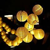 Cadena de luces LED, Ubegood 20 LEDs Solar Cadena de Luces para Árbol de Navidad, Jardín, Patio, Bodas, Terraza y Todas las Decoraciones (Cálido Blanco)