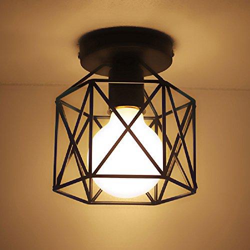 Hines Retro Ultra 1-Lights Lámpara Colgante de Techo de Techo Lámpara de...