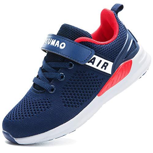 GUFANSI Turnschuhe Jungen Sportschuhe Mädchen Hallenschuhe Kinder Kinderschuhe Sneaker Outdoor Laufschuhe für Unisex-Kinder Schuhe, Blau, 30 EU